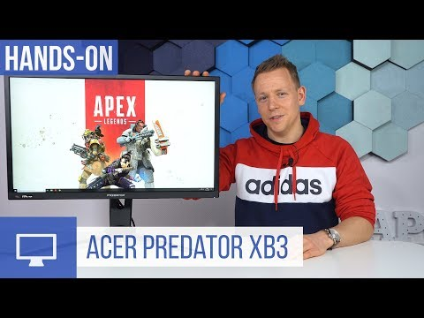 Acer Predator XB3 Hands-On zum 144 Hertz Gaming-Monitor mit HDR
