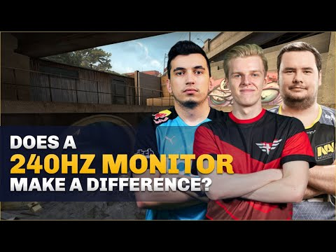 CS:GO Pro's Answer: 144hz vs 240hz monitors, does it make a difference?