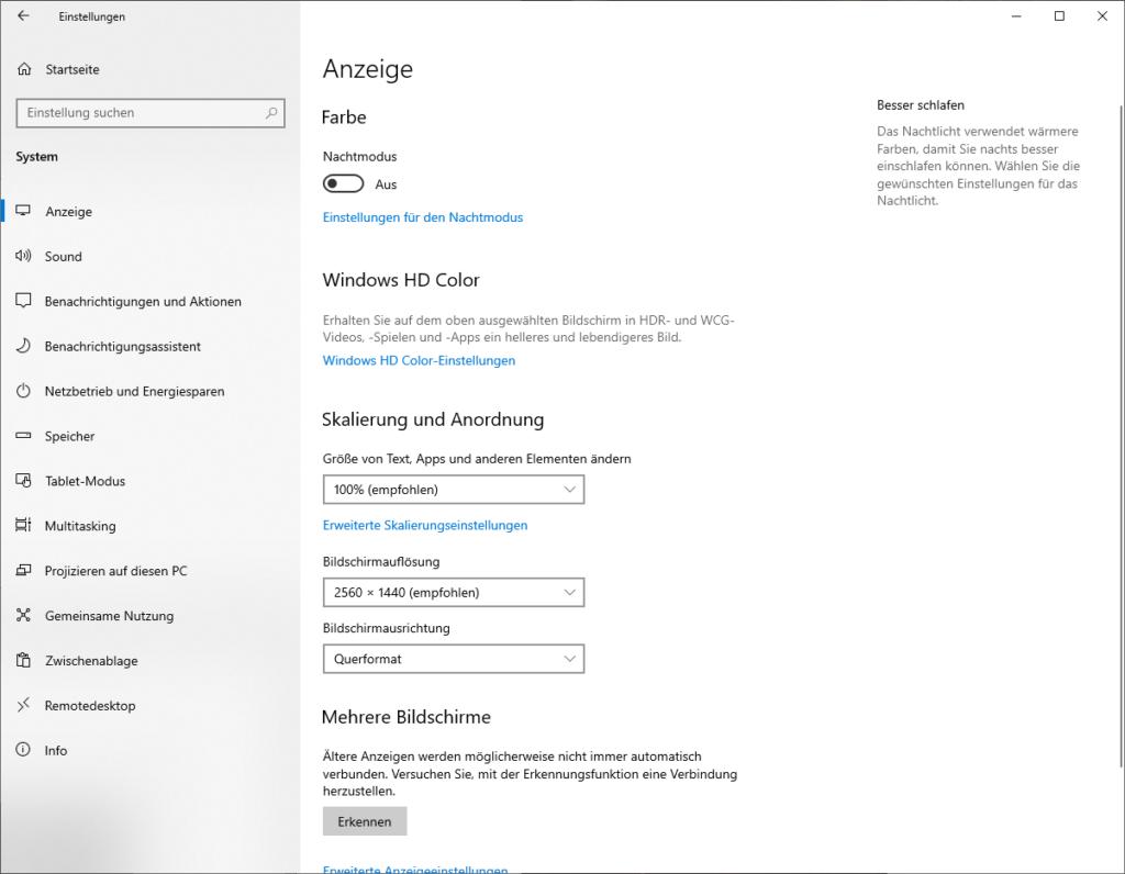 Windows 10 – Wieviel Hertz (hz) hat mein Monitor? 1